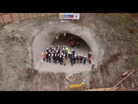 Durchschlagfeier am Steinbühltunnel