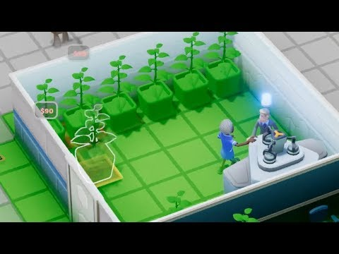 Building a Hospital that treats its patients with houseplants in Two Point Hospital (видео)
