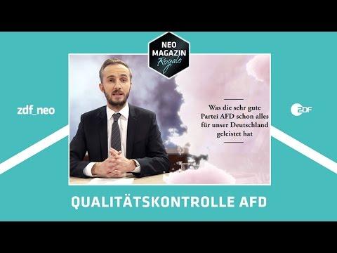 AfD: Was die sehr gute Partei AfD schon alles für Deutschland geleistet hat | NEO MAGAZIN ROYALE ZDFneo