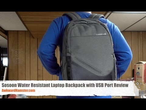 Sosoon Water Resistant Laptop Backpack with USB Port Review