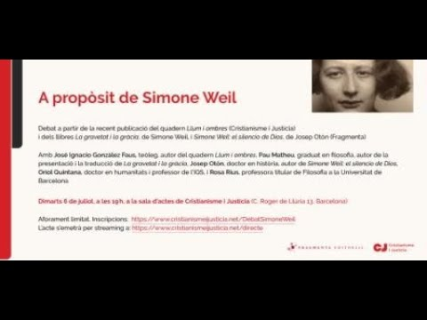 A propòsit de Simone Weil
