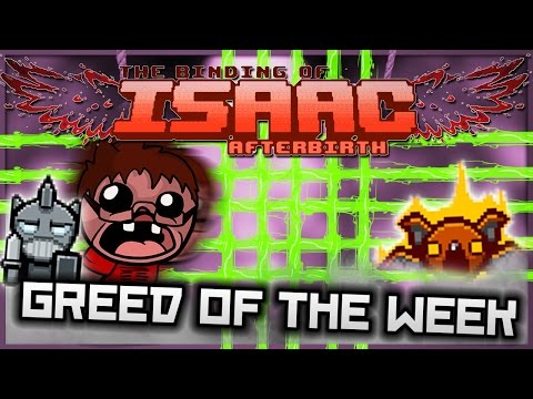 The Binding of Isaac: Afterbirth - Greed of the Week: WALL OF TECHNOLOGY!