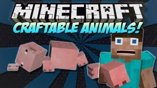 Minecraft | CRAFTABLE ANIMALS&MOBS MOD! | Craft the ENDER DRAGON! [1.4.7]