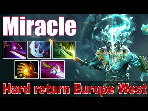 Miracle - Arcana Juggernaut | Hard return Europe West | Dota 2 Gameplay