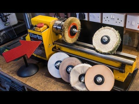 Making lathe mounted buffing wheels and polishing mops (видео)