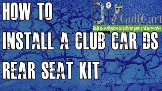 How to install a rear flip seat kit on a Club Car DS golf cart. Our installation video will brake down the steps for installing our Club Car back seat. Our Club Car ...