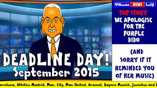 DEADLINE DAY 2015 - cartoon! (FUNNY Sky Sports Jim White Parody Man Utd Liverpool Chelsea )