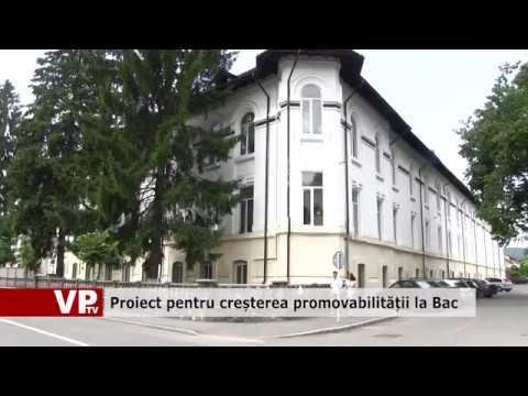 Proiect pentru creșterea promovabilității la Bac
