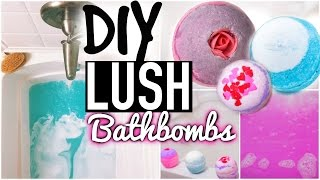 DIY Lush Bath Bombs + Demo! - YouTube