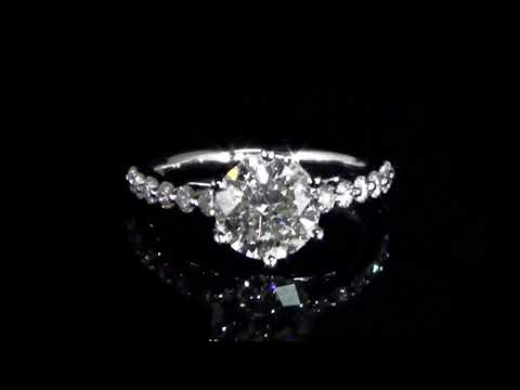 CGL Certified 2.01ct Round Brilliant 'Hearts & Arrows' Cut Diamond Ring