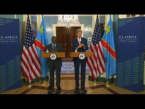 TÉLÉ 24 LIVE: Le Secrétaire d'Etat américain John Kerry a recontré Jospeh Kabila, avant le début du sommet historique Etats-Unis – Afrique de Washington