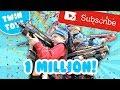 Nerf War  One Million Subscribers waptubes