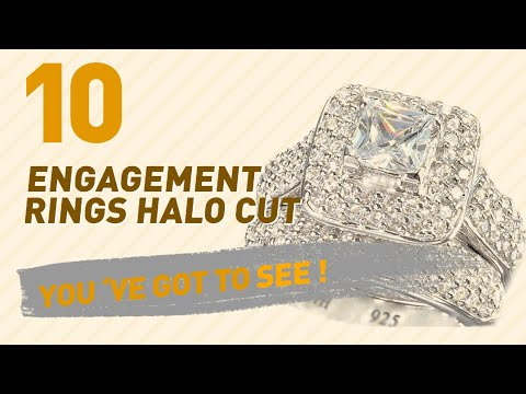 Engagement Rings Halo Cut Top 10 Collection // UK New & Popular 2017