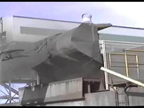 Loader Hopper at Copper Smelter After Dry Fog Dust Suppression System installation