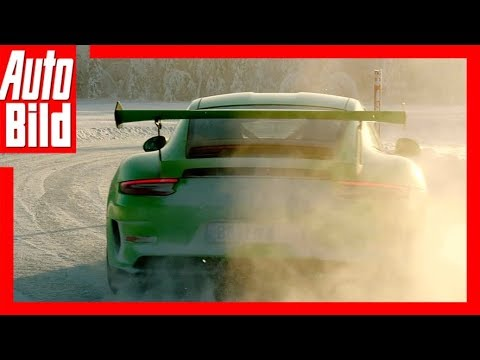 Porsche GT3 RS (2018) Über die Eispiste mit Walter  ...