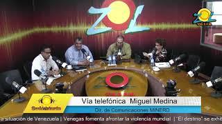 Miguel Medina Dir. de comunicaciones del MINERD comenta asistencia de estudiantes luego del huracán