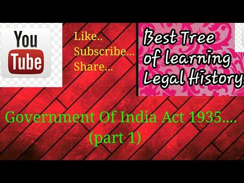 Government Of India Act 1935 (part 1)