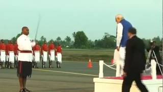 PM Narendra Modi Receives Ceremonial Welcome In Fiji