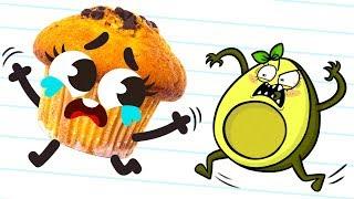 Cutefood Doodles vs Avocado