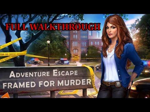 ADVENTURE ESCAPE Framed for Murder Full Walkthrough