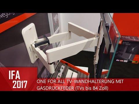 ONE FOR ALL TV-Wandhalterung mit Gasdruckfeder (IFA 2 ...
