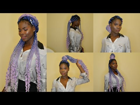Curly hairstyles - How I style my curly end box braids  6 Hairstyles For Box Braids  Vivian