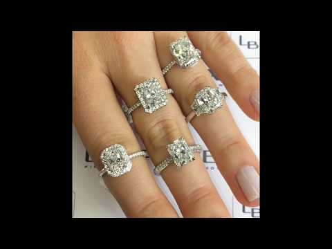 Elongated Radiant Cut Diamond Ring Collection