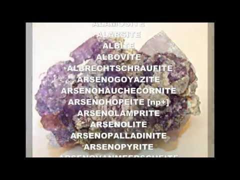 Les minéraux du monde