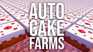 How to Build a Semi-Automatic Cake Farm in Survival Minecraft