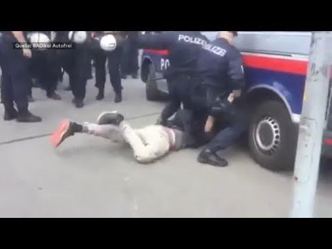 Polizeigewalt? Wiener Polizei räumt »gefährliche Situat ...