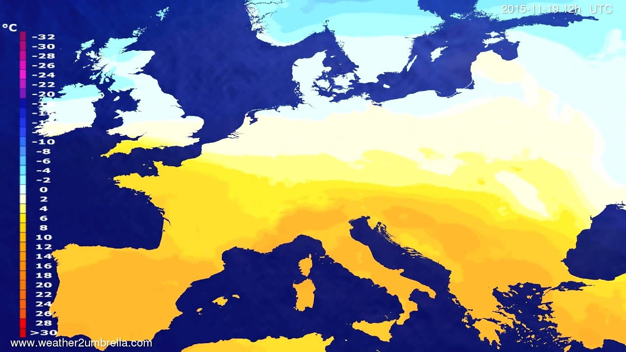Temperature forecast Europe 2015-11-17