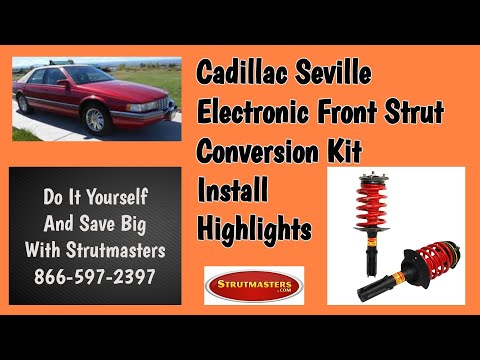 1993-2004 Cadillac Seville Front Electronic Suspension Conversion Installation