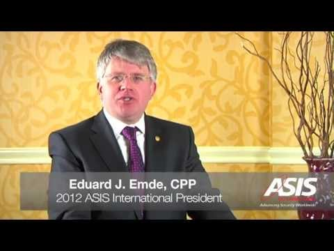 ASIS International President Eduard Emde, CPP
