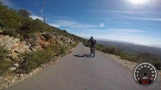 Recorde da descida do Cerro São Miguel - KOM Strava 22-02-2015