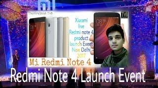 Xiaomi Redmi Note 4 Live Launch Event | LIVE MI Xiaomi Product Launch NEW DELHI INDIA TvB