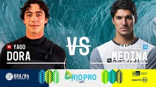 Wildcard Yago Dora takes on fellow Brazilian Gabriel Medina in Round Five, Heat 2 at the 2017 Oi Rio Pro in Brazil. Subscribe to the WSL for more action: ...