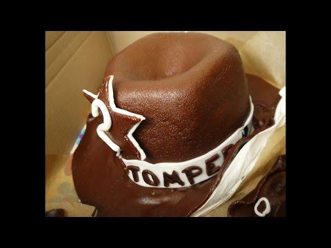 Cowboy Hut Torte  Party Food Rezept - Motivtorte Fondant + dekorieren