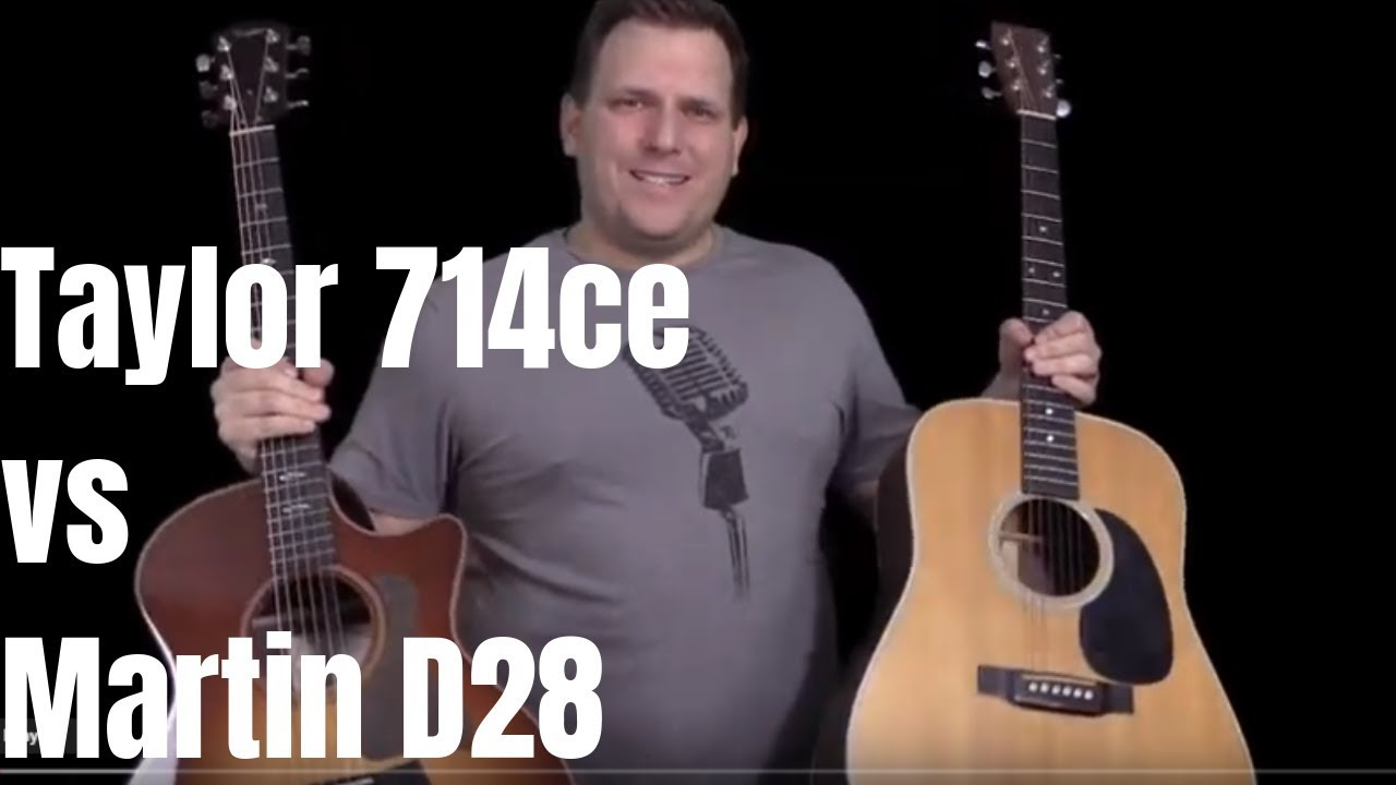 Taylor 714ce vs Martin D28 Acoustic Guitar Showdown | The Rosewood and Spruce Challenge!