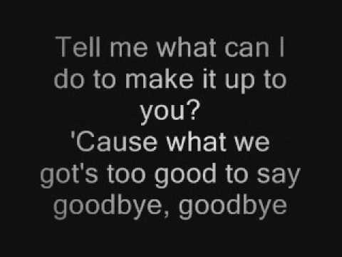Bruno Mars - Too Good To Say Goodbye Lyrics