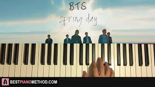 Video HOW TO PLAY - BTS (방탄소년단) - Spring Day (Piano Tutorial Lesson) MP3, 3GP, MP4, WEBM, AVI, FLV Juni 2018