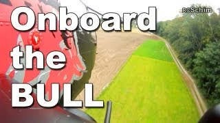 Worlds Largest RC Heli - Cockpit View - ONBOARD The RED BULL Cobra (Josef Schmirl)