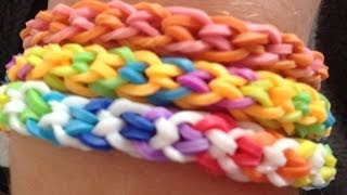 Rainbow Loom: Inverted fishtail tutorial easy/bigginer no loom using your fingers - YouTube
