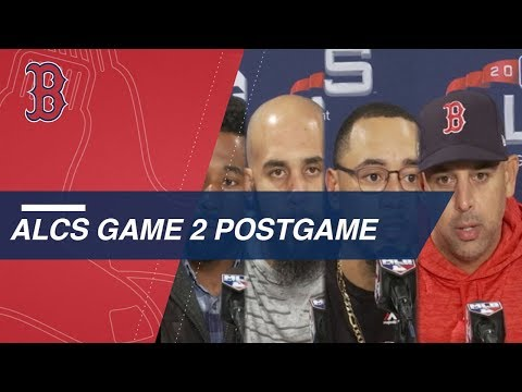 Video: ALCS Game 2: Red Sox discuss 7-5 win over Astros