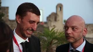 Mauro Piacentini e Andrea Borgia con Posto unico all'Ischia Film Festival 2018