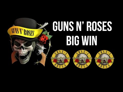 Guns N' Roses Slot | €1100 BIG WIN Game Play Video