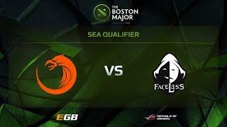 Faceless vs TnC, Boston Major SEA Qualifiers