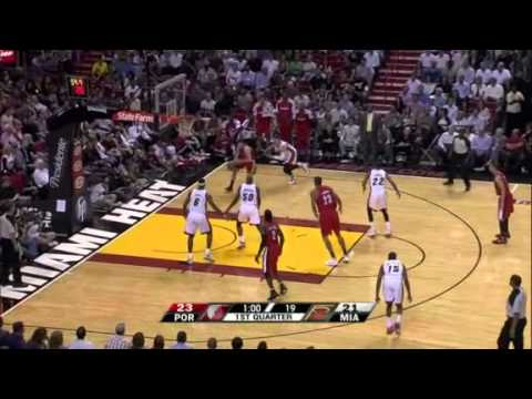 Wallace, Camby, and Fernandez against Miami Heat