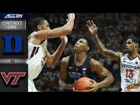 Duke vs. Virginia Tech Condensed Game | 2018-19 ACC Basketball