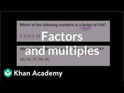 Finding Factors And Multiples Video Khan Academy