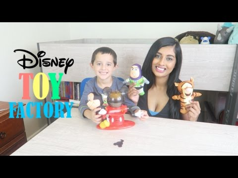 DISNEY TOY FACTORY | MAKING OUR OWN SOFT TOYS! | BUZZ LIGHTYEAR, MICKEY MOUSE & TIGGER